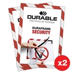 Duraframe® Security Rot/Weiss - Selbstklebender A4 Magnetrahmen - 2er-Pack